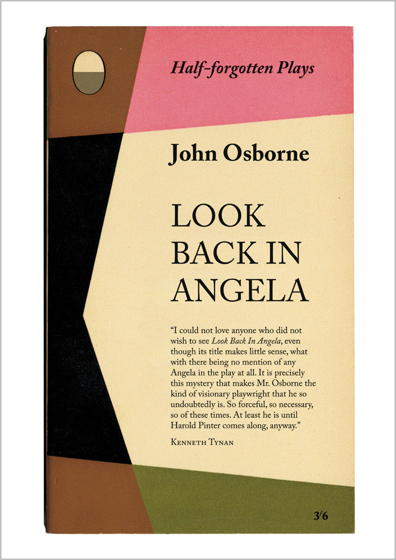 John Osborne Look Back In Anger Book Cover Poster Print