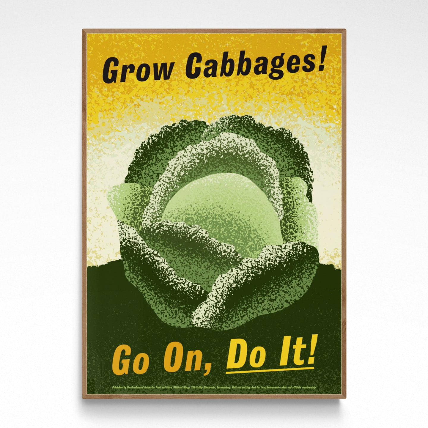 Gardening Poster - Grow Cabbages