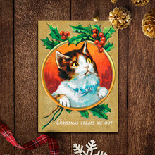 Funny Vintage Cat Christmas Cards