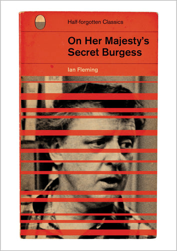 Ian Fleming On Her Majesty's Secret Service' Book Cover Poster Print