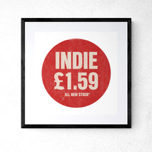 Pop Art Style Indie Music Record Cover Price Tag Print