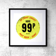 Pop Art Print - Indie Music Record Cover Price Tag Poster