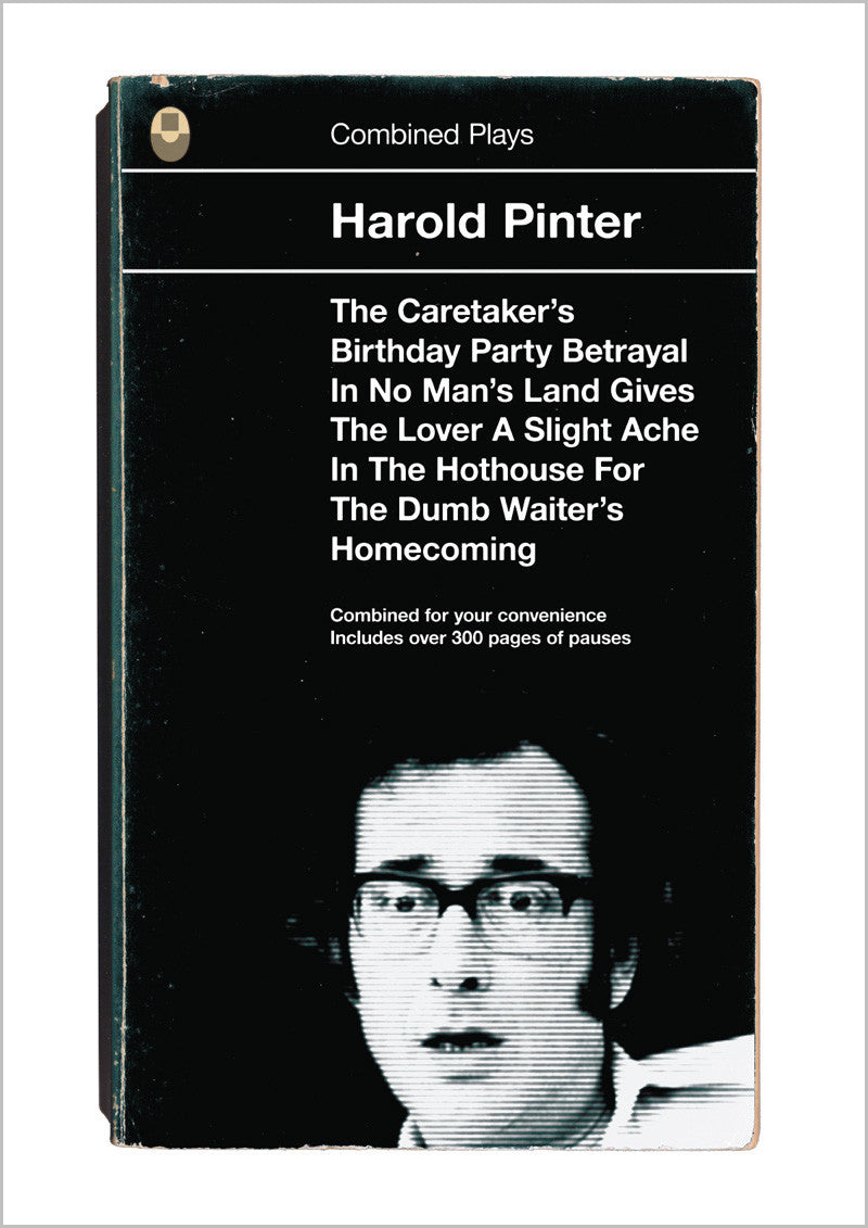Harold Pinter Combined Plays Book Cover Poster Print
