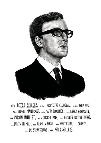 Peter Sellers Portrait Print by Standard Designs