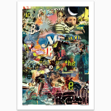Movie Poster Modern Art Collage Print
