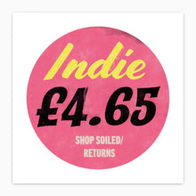 Indie Music Album Cover Price Tag Sticker Print - Pop Art Poster