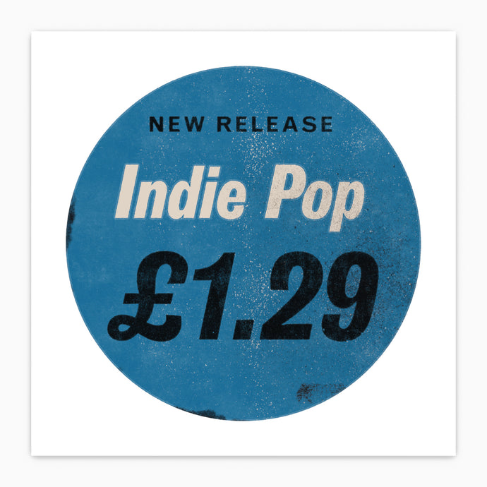 Indie Music Single Cover Price Tag  - Pop Art Poster Print