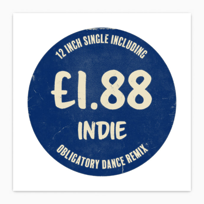 Indie Music Price Tag Print - Minimalist Pop Art Poster