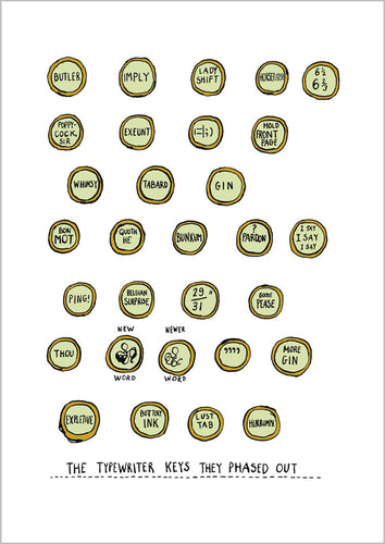 The Typewriter Keys They Phased Out Poster Print