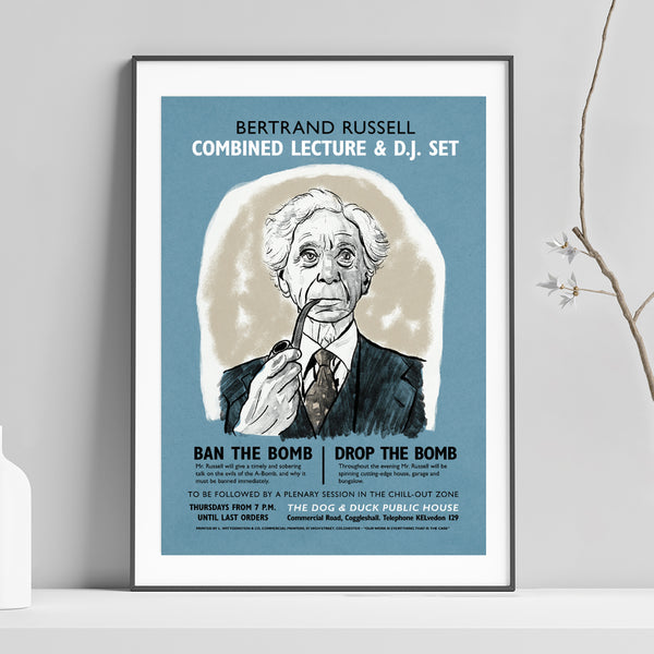 Bertrand Russell Lecture and DJ Set Poster Print by Standard Designs