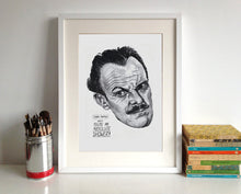 Terry-Thomas Portrait Poster Print in a frame