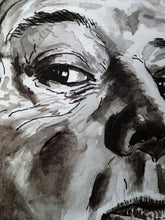 Alfred Hitchcock portrait poster print in detail