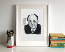 Eugene Ionesco Portrait Poster Print in a frame