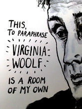 Virginia Woolf Portrait Poster Print in detail