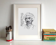 Mark Twain Portrait Poster Print in a frame