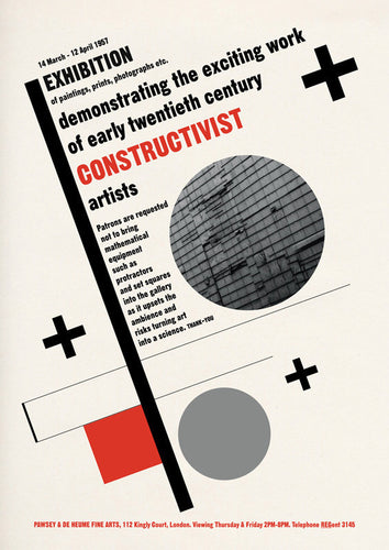 Constuctivist Painting Exhibition Poster Print