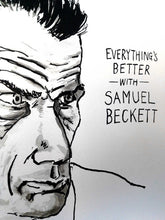 Samuel Beckett Portrait Poster Print in detail