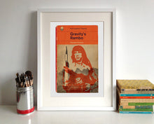 Thomas Pynchon Gravity's Rainbow or Rambo Book Cover Poster Print framed