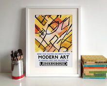 London Underground Modern Art By Tube Poster Print in a frame