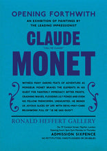 Claude Monet Exhibition Announcement Poster Print