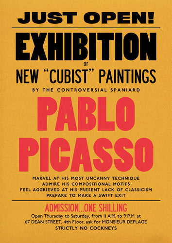 Pablo Picasso Exhibition Poster Print