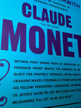 Claude Monet Exhibition Announcement Poster Print in detail