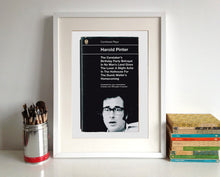 Harold Pinter Combined Plays Book Cover Poster Print framed