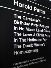 Harold Pinter Combined Plays Book Cover Poster Print in detail