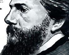 Herman Melville Portrait Poster Print in detail