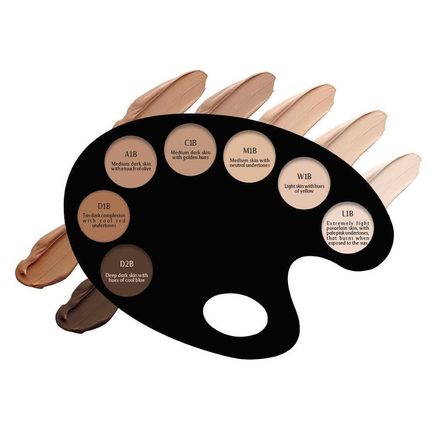 Perfect Canvas Liquid Foundation Shiny Finish (7 Colors)-Face Makeup-Elevatione-C1B-Elevatione