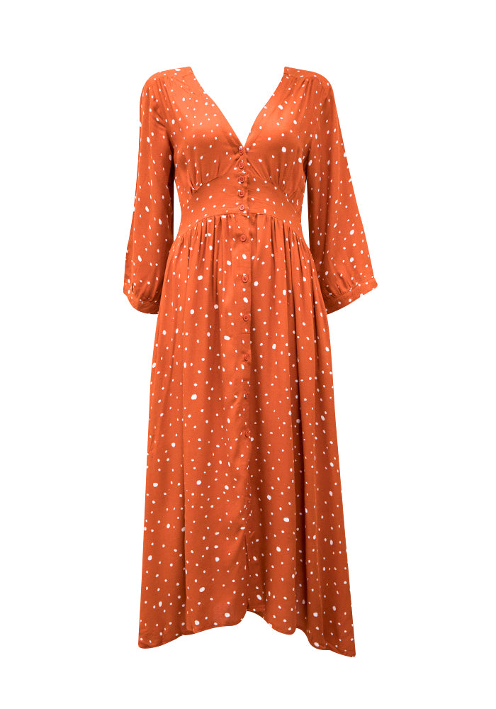 BOHO Albertine Midi Dress - West & Rose