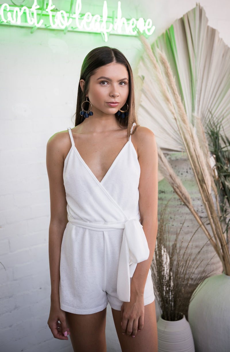 Almost Famous Playsuit (white) - West & Rose