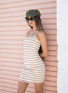 Take A Bow Mini Dress Nude