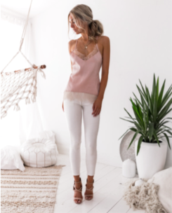 Pippa Cami In Pink - West & Rose