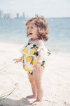 White Lemon Romper - West & Rose