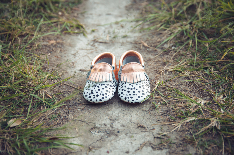 Rose Gold Spot Moccasins - West & Rose