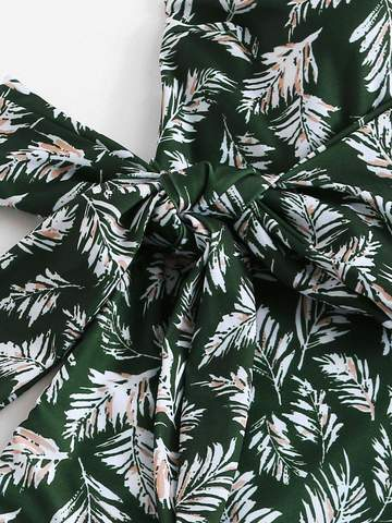 Leaf Print Swimsuit - West & Rose
