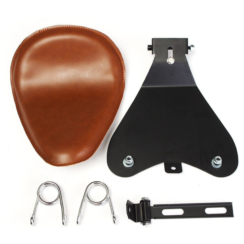 Selles Marron avec Supports et Ressorts - REMMOTORCYCLE