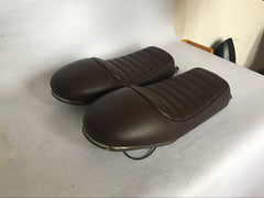 Selle Racing Marron ou Noir Relevé - REMMOTORCYCLE