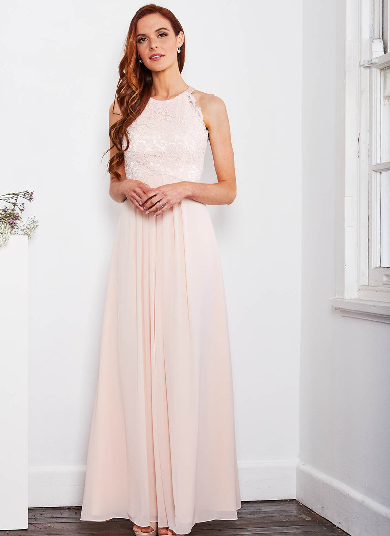 Graced by Lace Dress, Light Blush PInk