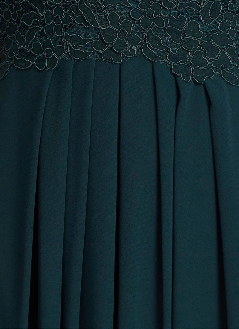 Graced by Lace Dress, Teal Green