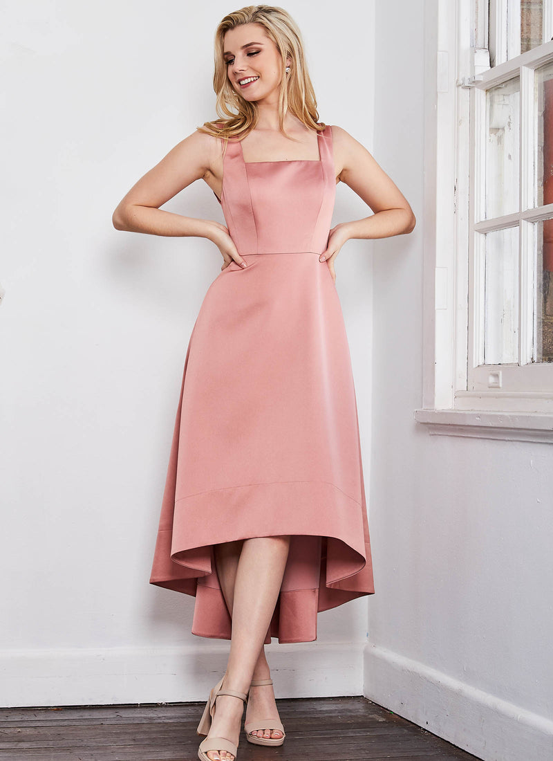Audette Dress, Blush Pink
