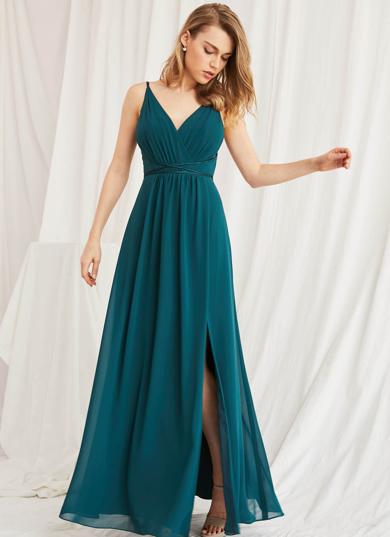 Aries Dress, Teal Green