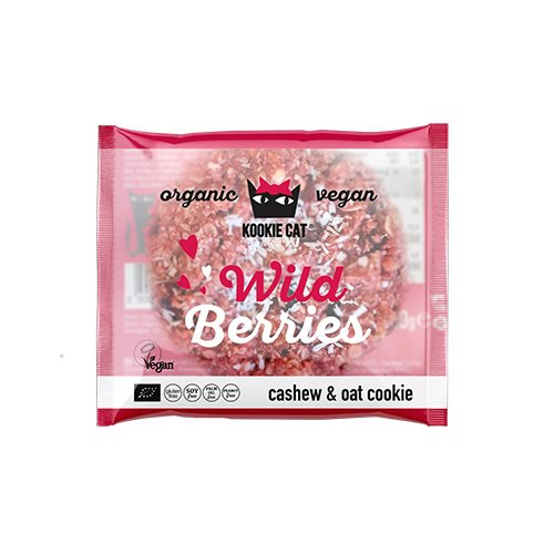 Nyhed: Kookie Cat Wild berries White Choc