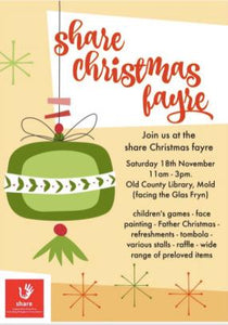 Christmas shopping? Why not come to our Christmas Fayre on November 18th