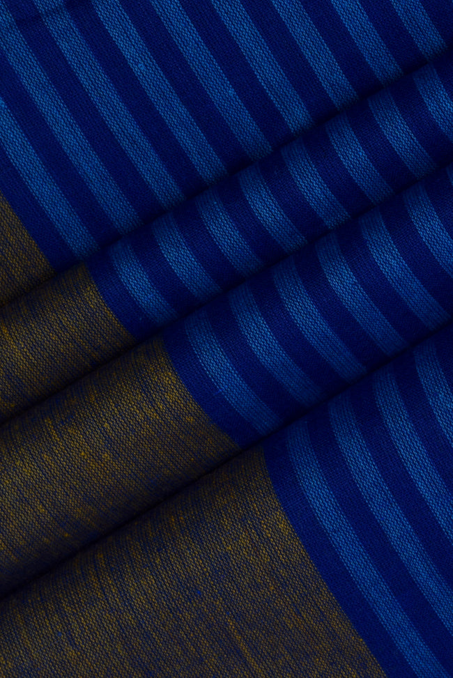 Blue Stripes Printed Cotton Fabric