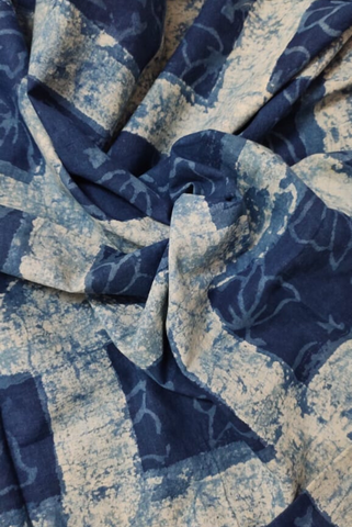 Catalina Blue Indigo Print Fabric