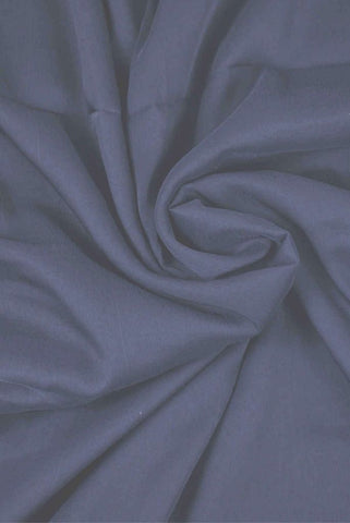 Black Plain Pure Chiffon Fabric