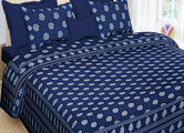 Beautiful Blue Tree Print King Size Cotton Bed Sheet
