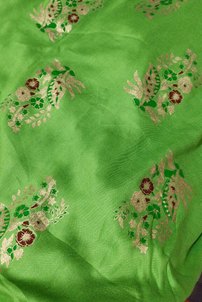 Green Golden Rayon Fabric